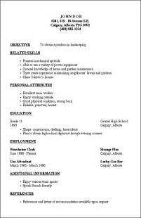 resume outline 2 resume cv