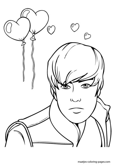 justin bieber coloring pages printable free valentine s day coloring pages justin bieber valentines