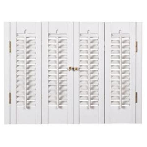 Interior Shutters Home Depot by Homebasics Traditional Faux Wood White Interior Shutter