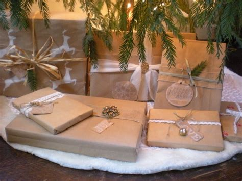 picture of brown paper christmas gift wrap ideas