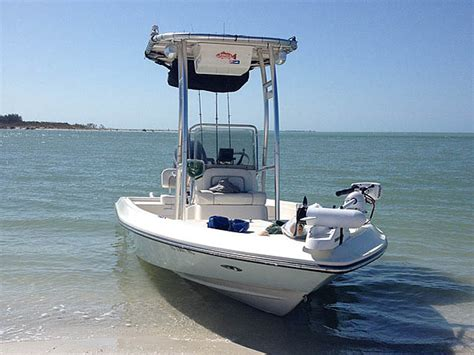 bay boat with t top shearwater t tops by stryker