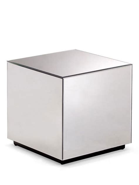 Cube Side Table Mirror Cube Side Table Brickell Collection Modern Furniture