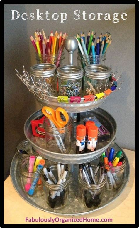 Diy Desk Organizers 15 Creative And Useful Diy Desk Organizers Grade Friends Pinterest Jars Cotton And