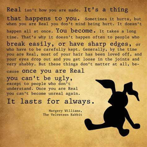 Valentine Day Quote by Velveteen Rabbit Quotes Quotesgram