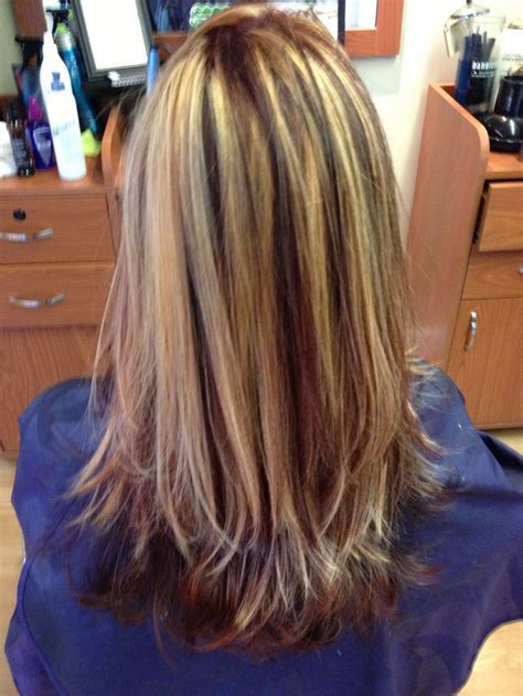 oval foil hair color long layered cut with all over color and foil google