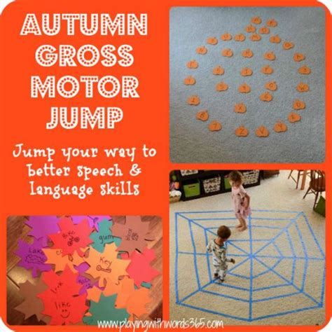 autumn gross motor jump for speech language skills