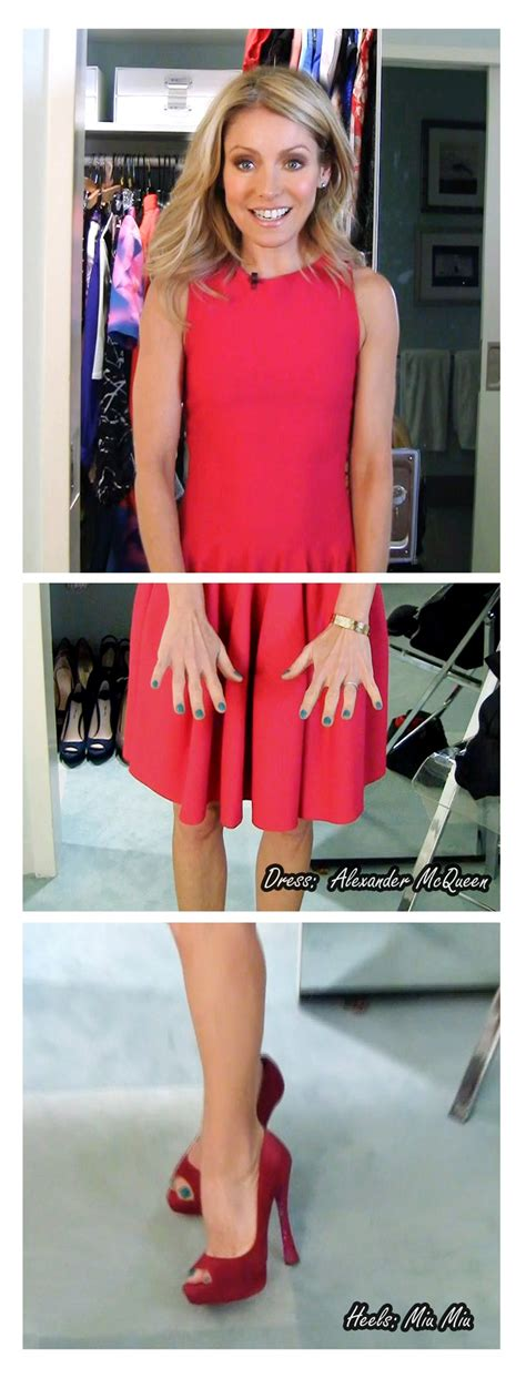 what color polish is kelly ripa wearing on her nails kelly ripa 1 8 13 dress alexander mcqueen heels miu