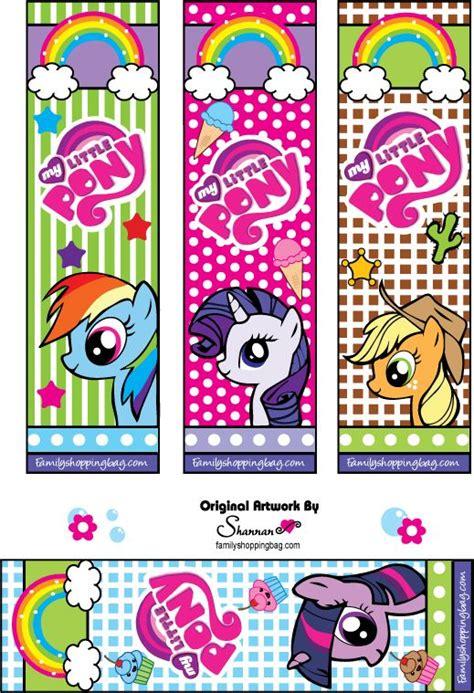 printable rainbow bookmarks mlp bookmark printable mlp birthday party ideas