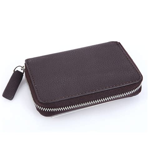 leather coin wallet pattern pu leather lichee pattern wallet 5 card slots card holder