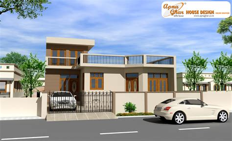 Simple Two Story House Design by Apnaghar House Design Complete Architectural Solution
