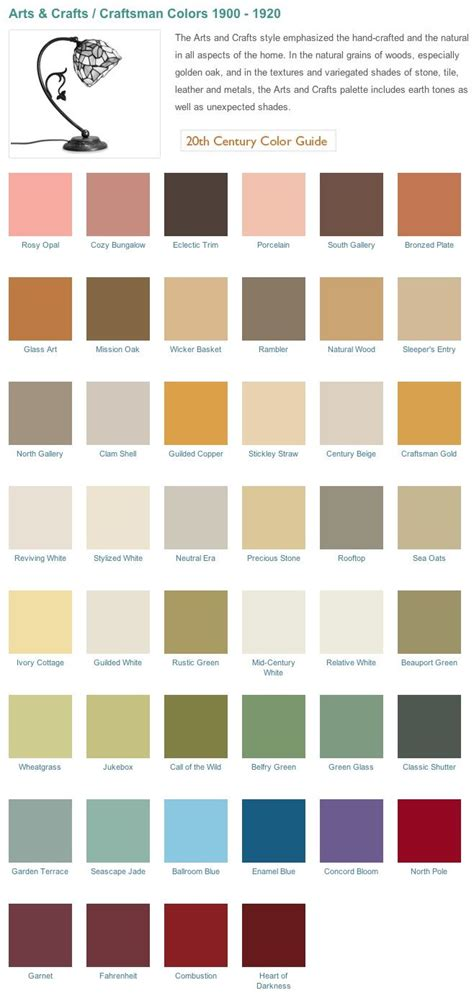 craftsman style home arts crafts era inspired historical paint palette from california
