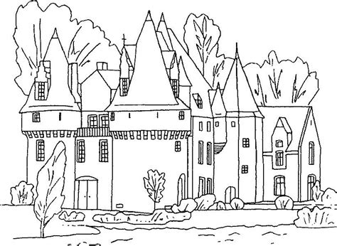 free printable castle coloring pages for kids
