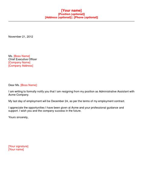 best photos of letter of resignation template word