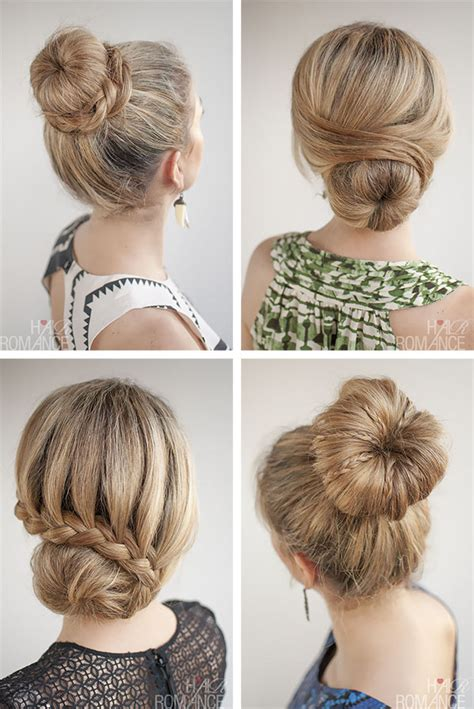 hairstyles using a bun donut how many ways can you style a donut bun hair romance