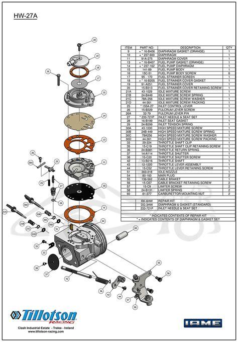tillotson carb diagram tillotson iame x30 carburetor