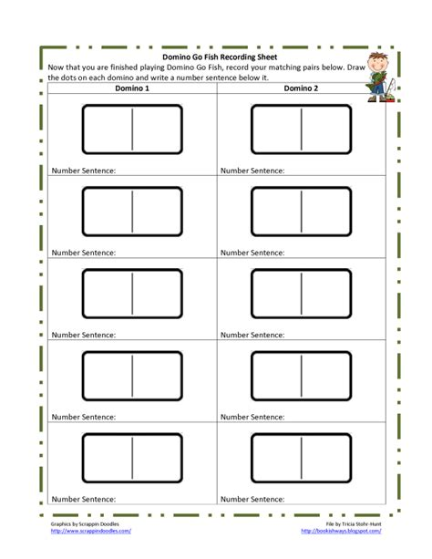 printable domino cards for math bookish ways in math and science monday math freebies