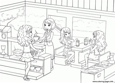 coloring pages for restaurants lego friends restaurants food coffee coloring pages printable