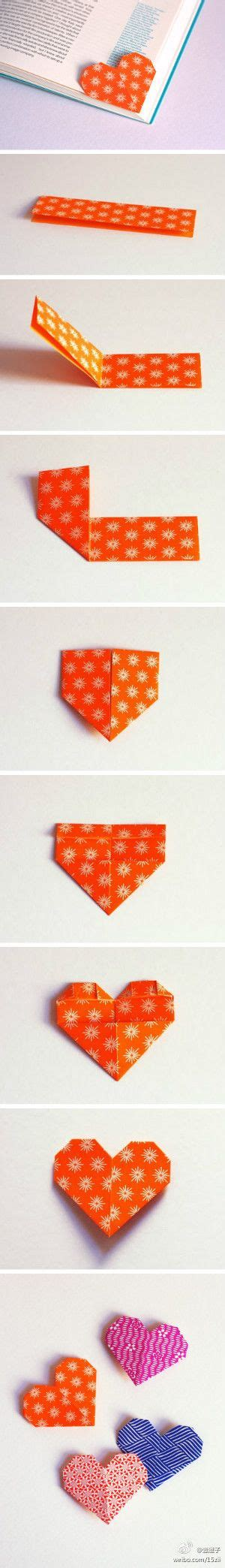 Origami Page Marker - best 25 paper hearts ideas on
