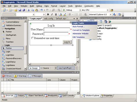 login control layout template asp net c change login control layout in custom control stack