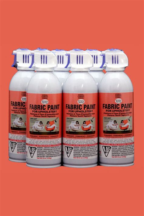 Where To Buy Simply Spray Upholstery Paint by Upholstery Fabric Spray Paint 6 Coral Simply Spray