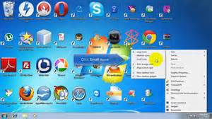 Small Desktop Icons How To Resize Desktop Icons In Windows 7