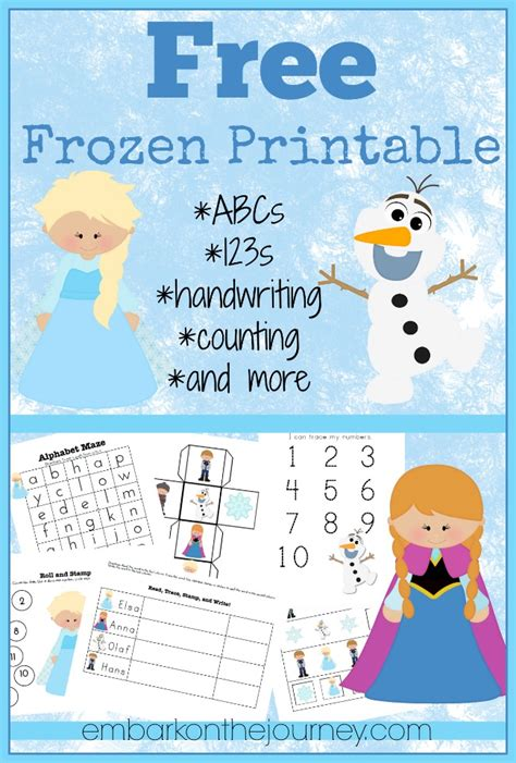 printable frozen menu free frozen printable and activities round up