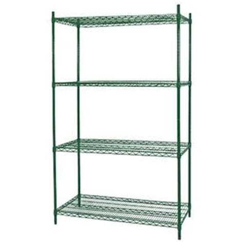 walk in cooler shelving nor lake ssg88 4 4 tier shelving kit for 8 x 8 walk in cooler or freezer