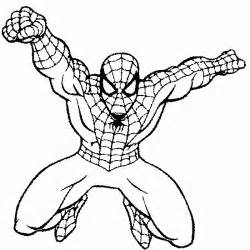 free coloring pages spiderman drawing
