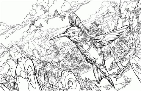coloring pages birds realistic humming bird coloring page coloring home