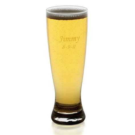 engraved barware engraved grand pilsner glass 20 ounce personalized beer