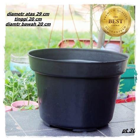 jual pot bunga cm pcs hitam pot tanaman plastik