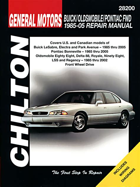 motor repair manual 1986 pontiac parisienne parking system buick car manuals haynes clymer chilton workshop original factory car motorbike manuals