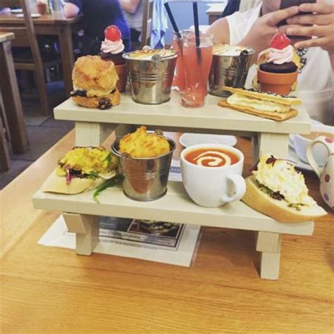 picnic bench picture of the garden kitchen bolton by bowland tripadvisor