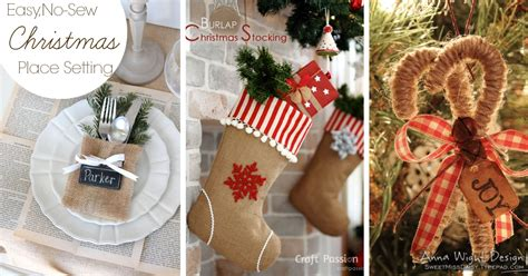 diy burlap christmas decorations www imgkid com the