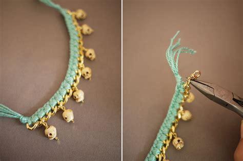 diy woven charm bracelet