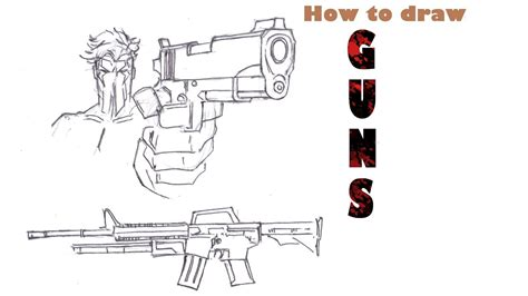 how to draw doodle guns how to draw guns tutorial
