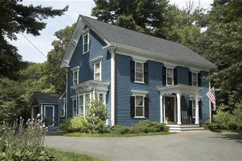 blue paint color ideas for colonial revival houses this house
