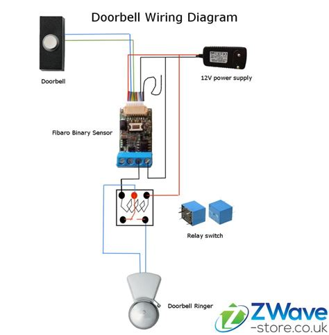 doorbell wire diagram two buzzers door bell chime unit