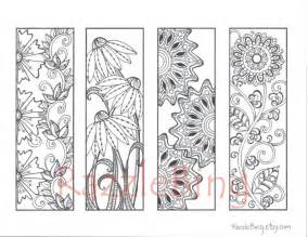 printable bookmarks to color diy bookmark printable coloring page zentangle inspired