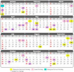 Calendar 2018 Sabah Kalendar 2017 Malaysia Versi Terbaik Cuti Cuti Sekolah