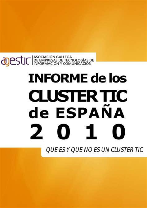 que es un pattern en español i informe sobre los cl 250 ster tic en espa 241 a 2010