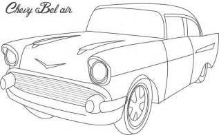 chevy bel air coloring printable page for