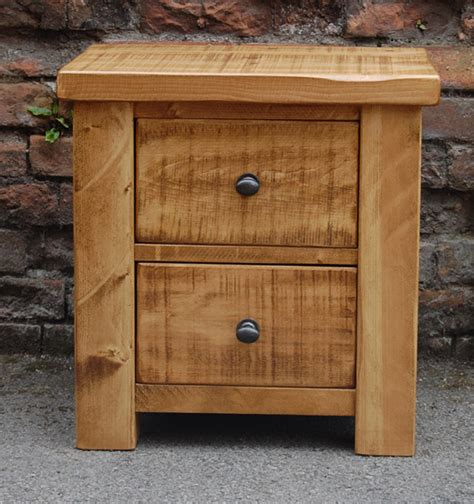 Handmade Pine Furniture - plank bedside cabinet handcrafted in derbyshire by incite