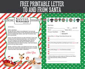 free printable letter to and from santa sohosonnet
