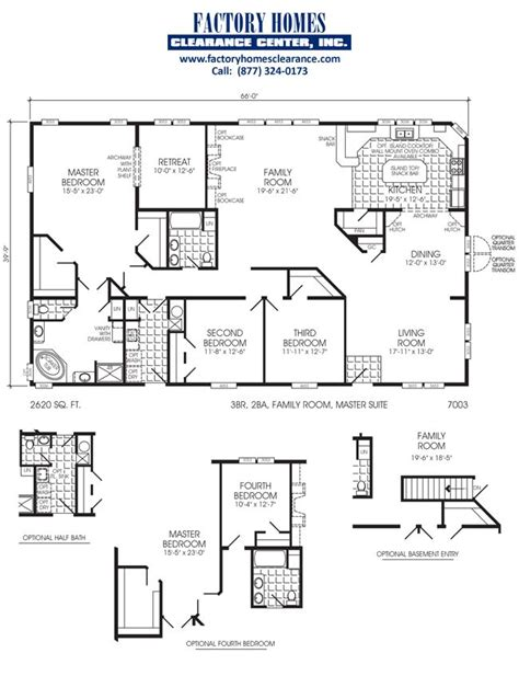 triple wide modular homes floor plans manufactured triple wide layouts manufactured home floor