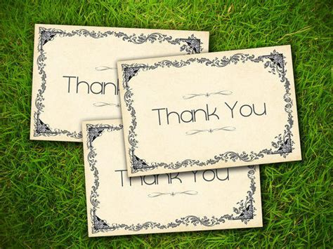 free printable thank you cards in french vintage classic wild west old fashioned from