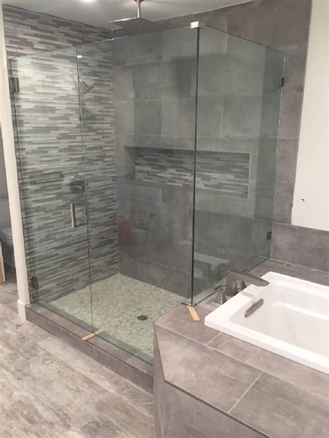 Shower Enclosure With Bench Shower With Bench San Diego Patriot Glass And Mirror