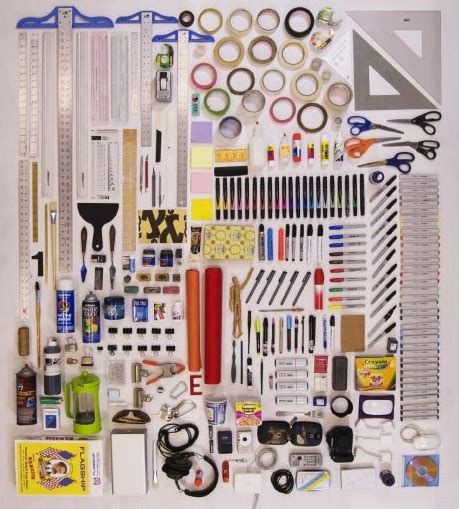 designer tool things organized neatly graphic design tools