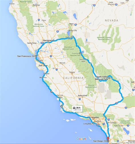 road map trip planner california rv road trip planner roverpass