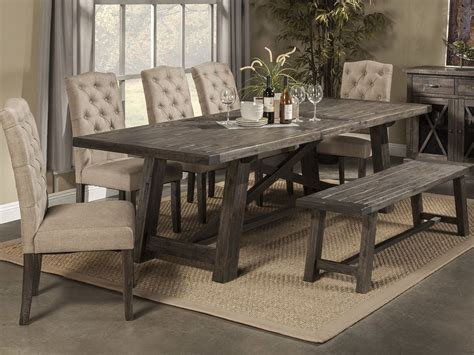 Rustic Dining Table Set Idea For Modern House Bench Dining Room Table Set